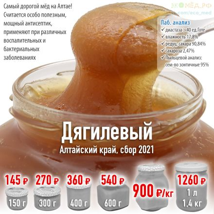 купить дягилевый мёд спб